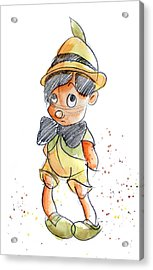 Pinocchio Acrylic Print by Andrew Fling
