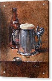 Pint Of Guinness Acrylic Print by Timothy Jones
