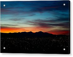 Pintler Sunset  Acrylic Print by Kevin Bone