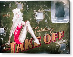 Pinup Girl - Aircraft Nose Art - Take Off Anne Acrylic Print by Gary Heller
