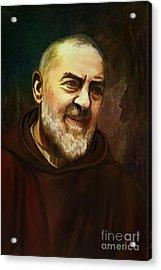 Pio Of Pietrelcina Acrylic Print by Andrzej Szczerski