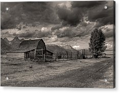 Pioneer Barn D9369 Acrylic Print by Wes and Dotty Weber
