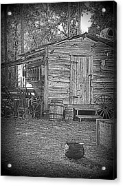 Pioneer Tool Shed Acrylic Print by Sheri McLeroy