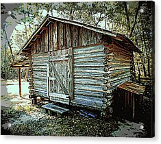 Pioneer Woodshed Acrylic Print by Sheri McLeroy