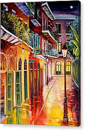 Pirates Alley By Night Acrylic Print by Diane Millsap