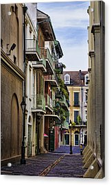 Pirates Alley Acrylic Print by Heather Applegate