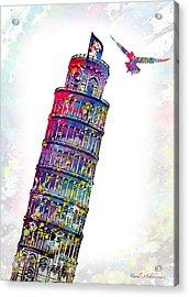 Pisa Tower  Acrylic Print by Mark Ashkenazi