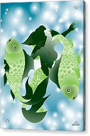 Pisces Acrylic Print by Charles Smith