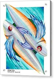 Pisces Acrylic Print by Michael Baum
