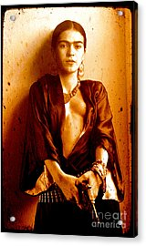 Pistol Packing Frida Acrylic Print by Pg Reproductions