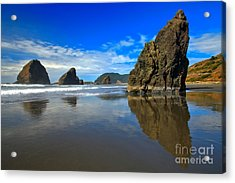 Pistol River Sea Stacks Acrylic Print by Adam Jewell