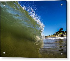 Pitching Wave Acrylic Print by David Alexander
