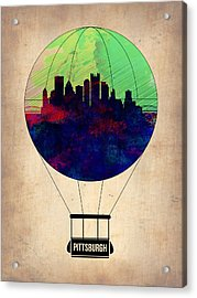 Pittsburgh Air Balloon Acrylic Print by Naxart Studio
