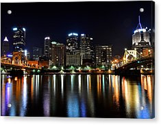 Pittsburgh At 2am Acrylic Print by Frozen in Time Fine Art Photography