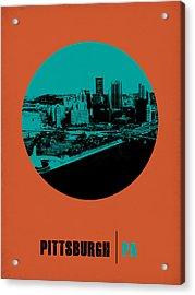 Pittsburgh Circle Poster 1 Acrylic Print by Naxart Studio