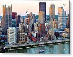 Pittsburgh Pa Acrylic Print by Frozen in Time Fine Art Photography