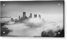 Pittsburgh Pano 8 Acrylic Print by Emmanuel Panagiotakis