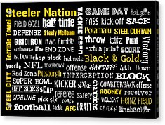 Pittsburgh Steelers Acrylic Print by Jaime Friedman
