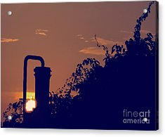 Pittsburgh Sunset  Acrylic Print by Charlie Cliques