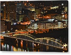 Pittsburgh Up Close Acrylic Print by Frozen in Time Fine Art Photography