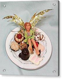 Pixie Fit - Cherry Crush Acrylic Print by Tamara Stickler