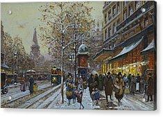 Place De La Republique Paris Acrylic Print by Eugene Galien-Laloue