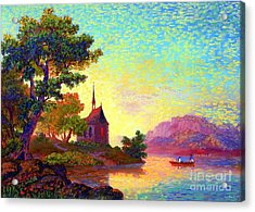 Beautiful Church, Place Of Welcome Acrylic Print by Jane Small