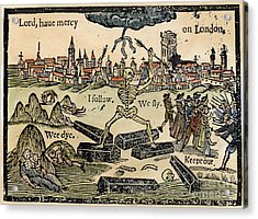 Plague Of London, 1665 Acrylic Print by Granger