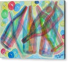 Plaid Wine Acrylic Print by Diane Pape