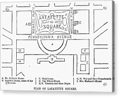 Plan Of Lafayette Square Acrylic Print by Granger