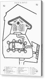 Plan Of The Bastille Acrylic Print by Granger