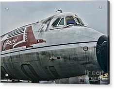 Plane Capital Airlines Acrylic Print by Paul Ward