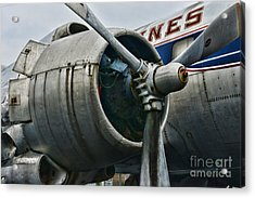 Plane Check Your Engine Acrylic Print by Paul Ward