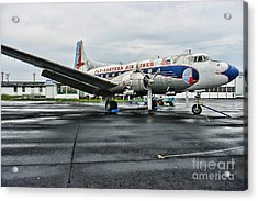 Plane On The Tarmac Acrylic Print by Paul Ward