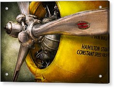 Plane - Pilot - Prop - Twin Wasp Acrylic Print by Mike Savad