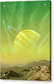 Planet Around Upsilon Andromedae Acrylic Print by Mark Garlick