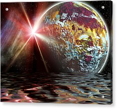 Planet Zorcon Acrylic Print by Camille Lopez