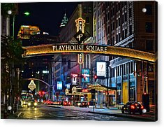 Playhouse Square Acrylic Print by Frozen in Time Fine Art Photography