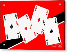 Playing Cards Aces Acrylic Print by Natalie Kinnear