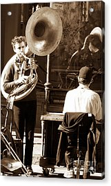 Playing In New Orleans Acrylic Print by John Rizzuto