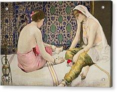 Playing Knucklebones Acrylic Print by Paul Alexander Alfred Leroy