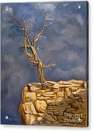Plea Acrylic Print by Rosario Meza