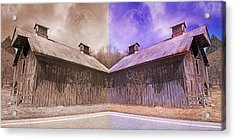 Pleasant View Country Barns Acrylic Print by Betsy Knapp
