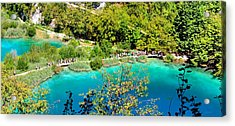 Plitvice Lakes Croatia Acrylic Print by Julia Fine Art And Photography