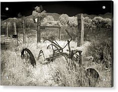 Plowed Under Acrylic Print by Scott Campbell