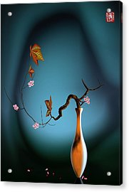 Plum 1 Acrylic Print by GuoJun Pan
