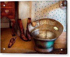 Plumber - Bath Day Acrylic Print by Mike Savad