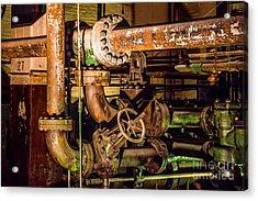 Plumbing Acrylic Print by Jon Burch Photography