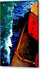 Plunging From Golden Gate Acrylic Print by Holly Blunkall