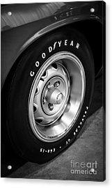 Plymouth Cuda Rallye Wheel Acrylic Print by Paul Velgos